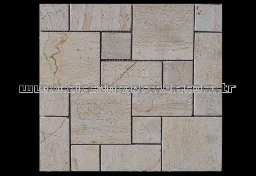Beige Brick Pattern Polished
