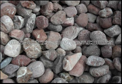 Red Grey River Stone
