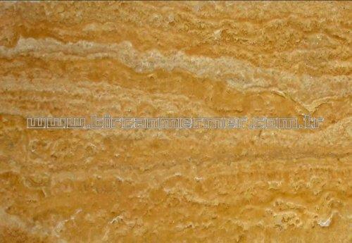 Yellow Travertine Vein Cut