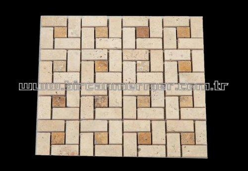 Light Travertine Brick Pattern 2.3x4.8