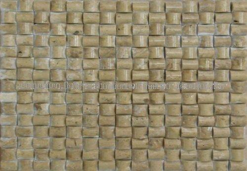 Noce Travertine Molding Mosaic