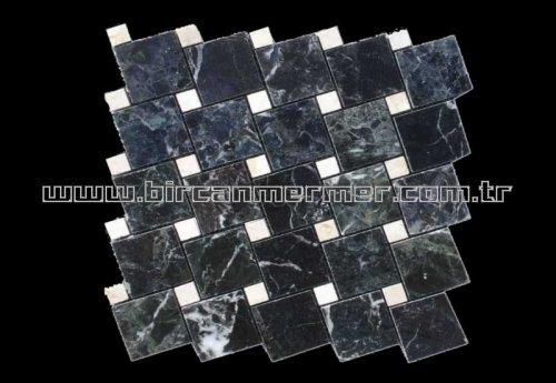 Petrol Black Polished Tiktak 4.8x4.8