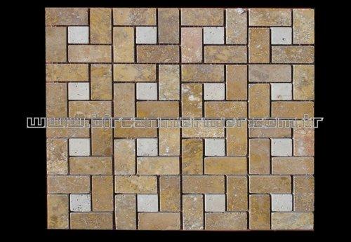 Yellow Pattern Brick Polished 2.3x4.8