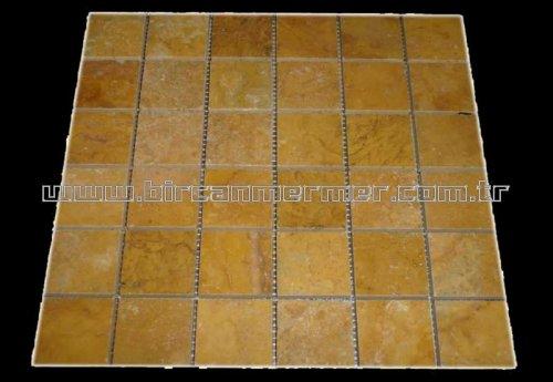 Sarı Traverten Cilalı 4.8x4.8
