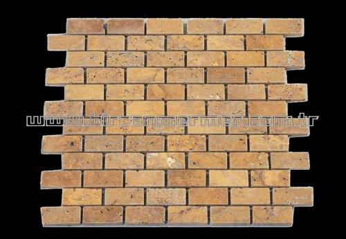 Sarı Traverten Tuğla Eskitme 2.3x4.8